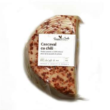 Cascaval natural cu chili