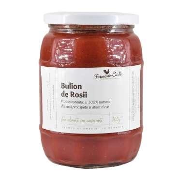 Bulion natural - pulpa de rosii (fara seminte sau coaja)